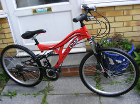 """UNISEX 24"""" WHEEL BIKE 14"""" FRAME IN GREAT WORKING CONDTION AGE 8+"""
