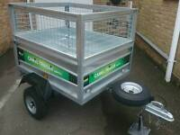 CAR TRAILER 48ins x 38ins - depth with cage 33ins