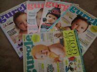 GURGLE MAGAZINE BABY PREGNANCY SET OF 5
