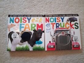 Noisy Farm and Noisy Truck Books, Brand New