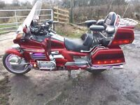 Goldwing GL1500 Candy Red Gold Wing