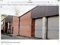 2000 sqft Warehouse / Workshop / Storage unit for rent