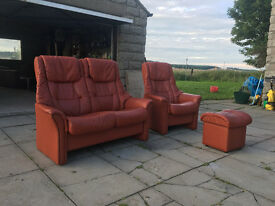 2+1 stressless style london tan recliners DELIVERY AVAILABLE
