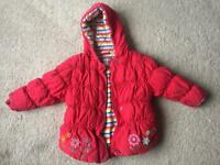 NEXT Girls Warm Coat. 2-3 yrs