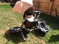Bugaboo travel system with car seat