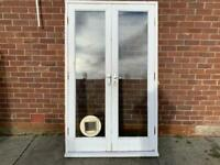 Hardwood french door and frame