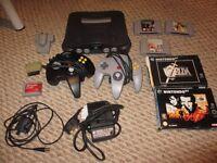 Nintendo Bundle n64 console with Games! Zelda, Goldeneye, Diddy Kong