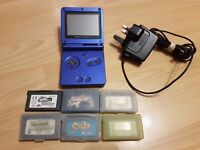 Nintendo Gameboy Advanced SP with 6 Top Games
