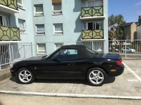 MX5 BLack soft top convertible
