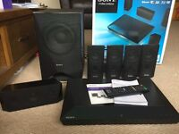 Sony BDV-E3100 Blu-Ray 5.1 Home Cinema System. plus 2 stands. 1 year old - great condition.