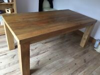 Dining Table - Mantis Light Natural Solid Mango wood 6ft x 3ft Dining Table