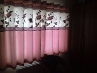 Matching bedroom curtains , double duvet cover, 4 pillow cases , cushions