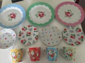 Cath Kidston cups and plates
