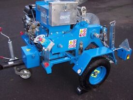 Hydraulic cable laying winch OMAC engine driven winch