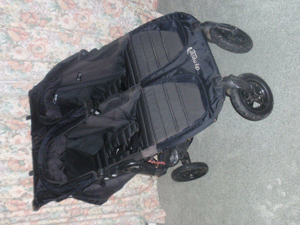 FOR SALE Baby Jogger City Mini GT double pushchair with two carrycots and other accessories. £500