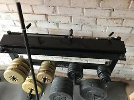 Free weight and Bar Rack
