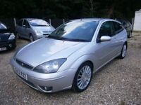 ** NEWTON CARS ** 02 52 FORD FOCUS 2.0 ST170, 3 DR, ATI, HALF LEATHER, ALLOYS, FULL MOT SUPPLIED