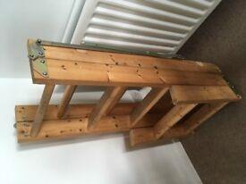 Wooden loft ladders.