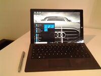 Microsoft Surface Pro 3, keyboard, pen, docklng station