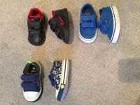 Boys shoes sizes 3 / 4 inc Clarks, Nike