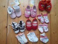 Baby girl clothing bundle age 6-9 months (30+ items) dresses, shoes, t-shirts, vests, leggings, coat