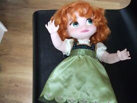 Frozen Anna hard bodied Disney doll
