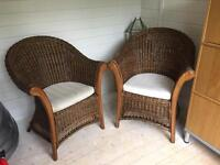 2x Conservatory Chairs