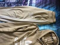 Baige and white Adidas originals tracksuit medium mens