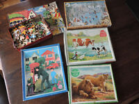Vintage Wooden Jigsaw Puzzles