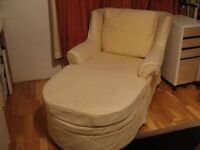 PALE YELLOW DAYBED/SOFA