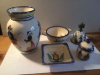 Quimper Pottery 5 pieces