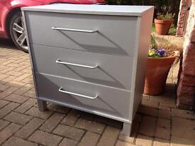Silver chest of drawers