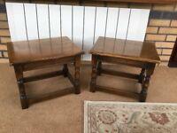 2 Solid Oak coffee tables