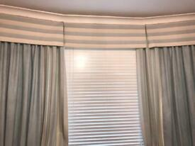 Blue Curtains, Pelmet Cover and Cushion Covers - Great Condition