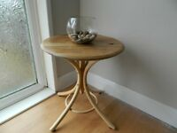 Lovely Upcycled Oak Whisky Barrel Lid Table.