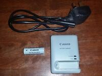 Canon Battery Pack NB-9L, Canon Battery Charger CB-2LBE and Power Lead