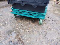Pallet Heavy Duty Trolleys, Plastic Storage Box Trolleys Suck 60cm x 40cm