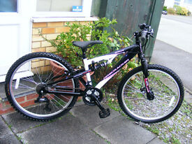 "LADIES 26"" WHEEL MOUNTAIN BIKE 16"" ALUMINIUM FRAME HARDLY USED"