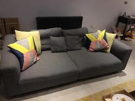 Designer large sofa for sale- seats 4 people