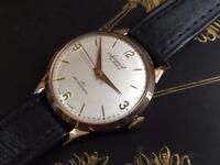 Vintage 9ct 9k 375 solid gold Accurist mens swiss watch