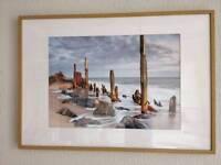 Beach print in frame, 100x70cm