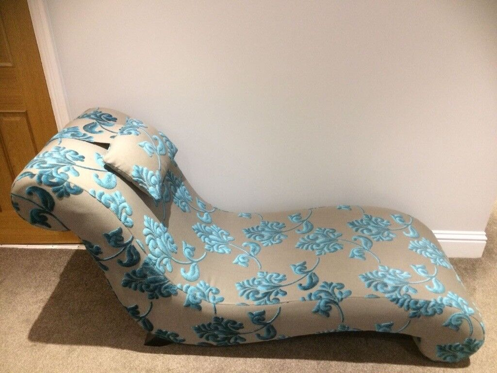 watch a22c9 5d6b8 DFS Mink/Turquoise Evie Chaise Longue RRP £445   in Maidenhead, Berkshire    Gumtree