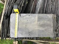 "Reclaimed slates of Barn roof approximately 18"" x 9"""