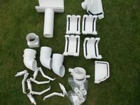 WHITE GUTTER/DRAIN PIPE ASSORTED FITTINGS