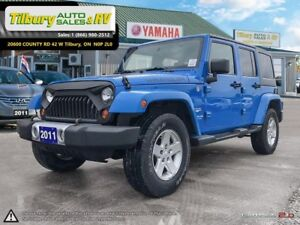 2011 Jeep Wrangler **Sahara Limited, 6spd Manual, Bluetooth**