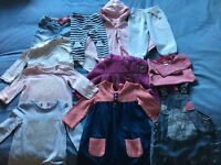 Bundle of baby girls clothes 9-12 months.