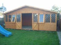 summer house 20x10 13mm T&G. £1690