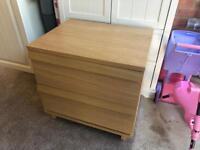Bedside Cabinet - Oak Effect