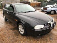 Alfa Romeo 156 T Spark Turismo 1598cc Petrol 5 speed manual 4 door saloon 52 Plate 18/10/2002 Black
