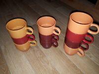 10 coffee/tea mugs
